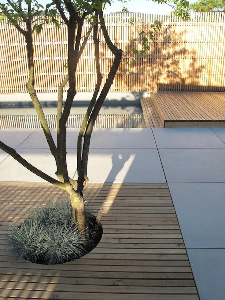 Galabau, Tom Himmelgrün, Großformatige Betonplatten sandgestrahlt