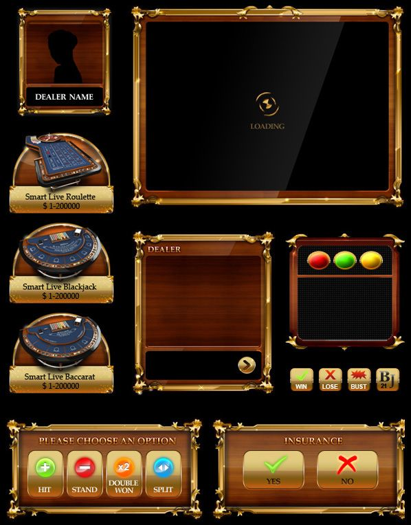 Casino Game Interface by Emrah Kara, via Behance