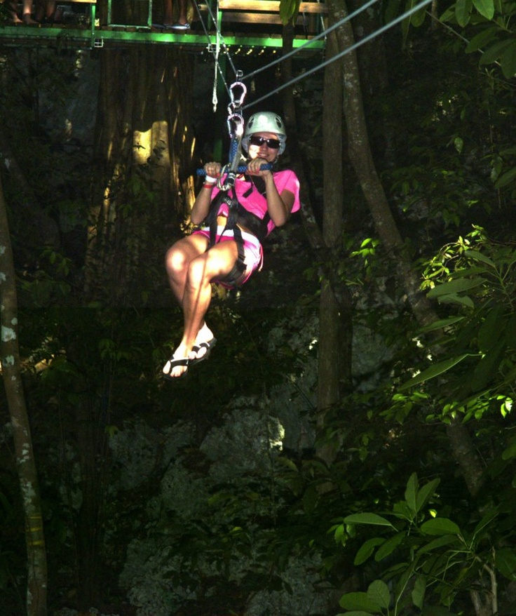 Face your fear of heights as you take a zip-line through the tropical Jamaican forest