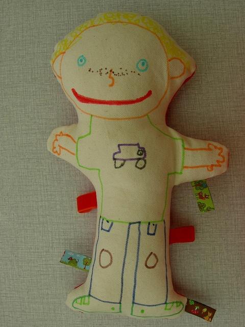 De dochter tekende een... meisje? by Ik ben Vink, via Flickr