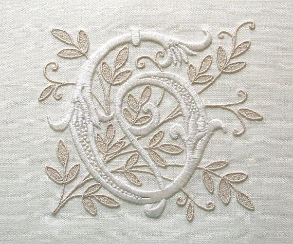 CUSTOM  MONOGRAM for Weddings Proms by BelleCoccinelle on Etsy, $30.00. I think i can duplicate on pillowcases?