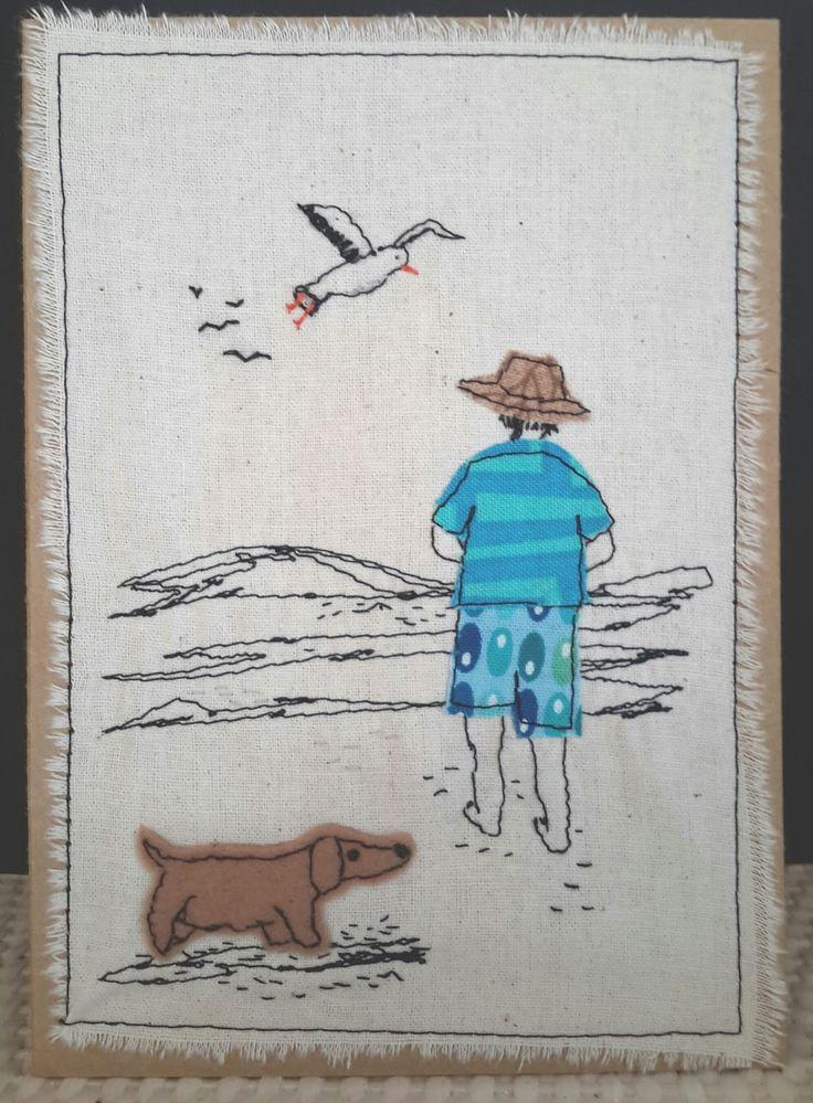 * Walking on the beach