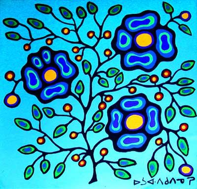 Fruits of Life by Canadian First Nations artist, Norval Morrisseau (Anishinabe)