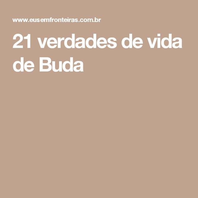 21 verdades de vida de Buda