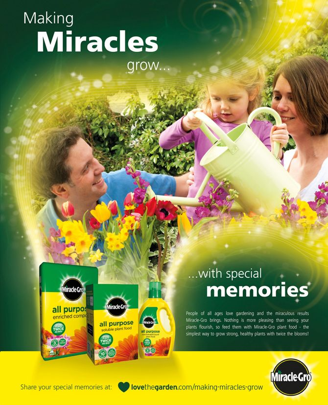 High Quality Juice Created This UK Advertising Campaign For Miracle Gro.