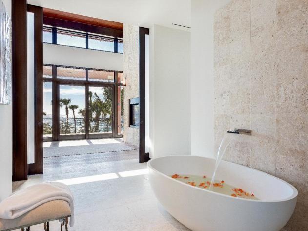 Open Tropical Bathroom