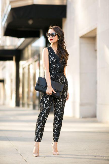 Caped Crusader :: Lace jumpsuit & Black cape blazer : Wendy's Lookbook