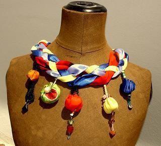 Produkttitel: TurmKunst - farbenfrohes Collier -  Shopname: Sweet Magnolia -  Für die Aktion KunstRaub mit dem Titel TurmKunst, inspiriert von de...