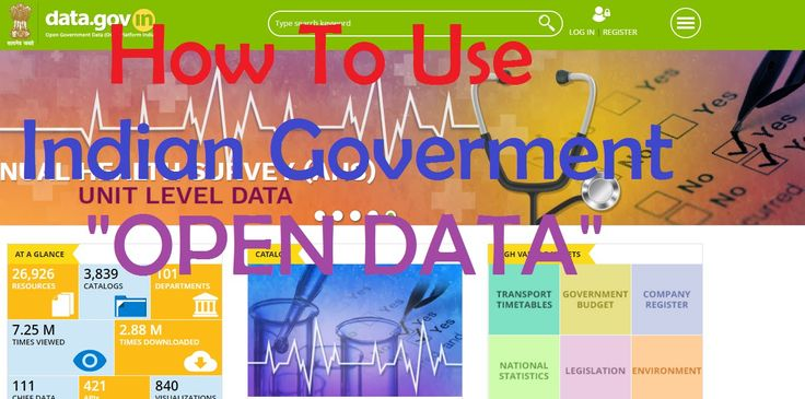 Indian Government Open Data data.gov.in What is open data providing by Indian Government. How to use the api and download the data in csv json or in xls format. Open data is now making Indian Government more transparent. Open Data is for all for that you can visit data.gov.in where you will get the knowledge and data of all the sectors like Education Health survey android apps.