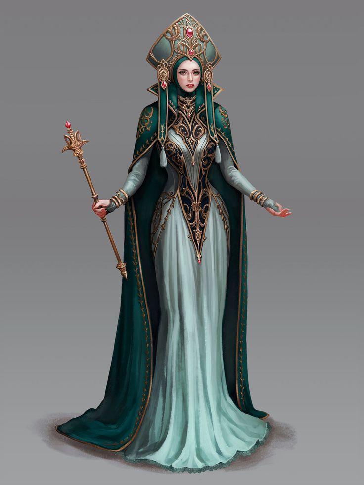 High Priestess, wonmi choi on ArtStation at https://www.artstation.com/artwork/oW52W