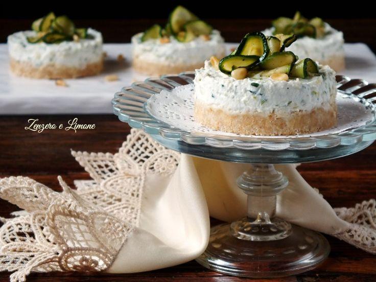 Piccole cheesecake alle zucchine