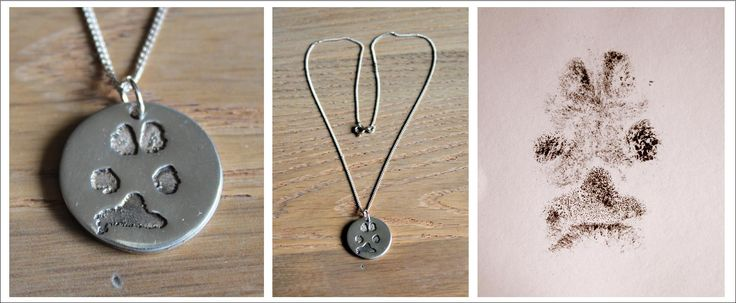 Solid silver paw print pendant on sterling silver chain www.facebook.com/MistyMornings