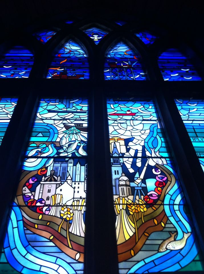 10/9/16- The Mither Kirk. Piper Alpha Chapel window.