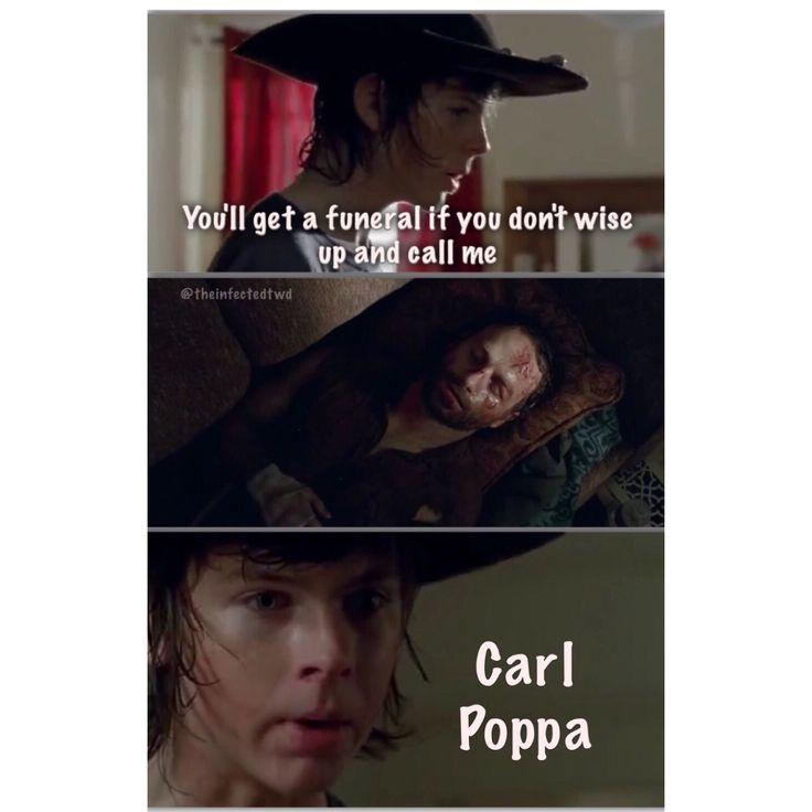 Carlton riggs carl poppa walking dead zombies lip readings memes
