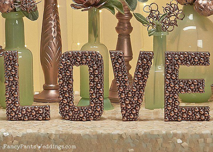 634 best weddings reception celebration images on pinterest embellished rose gold letters perfect for wedding decor junglespirit Images