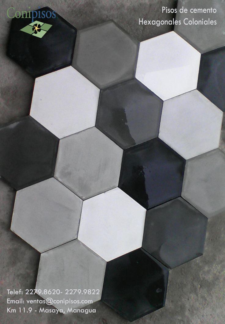 mosaicos hexagonales nicaragua decoracion moderna #flooring #decor #interiordesign #hexagon #arquitectura