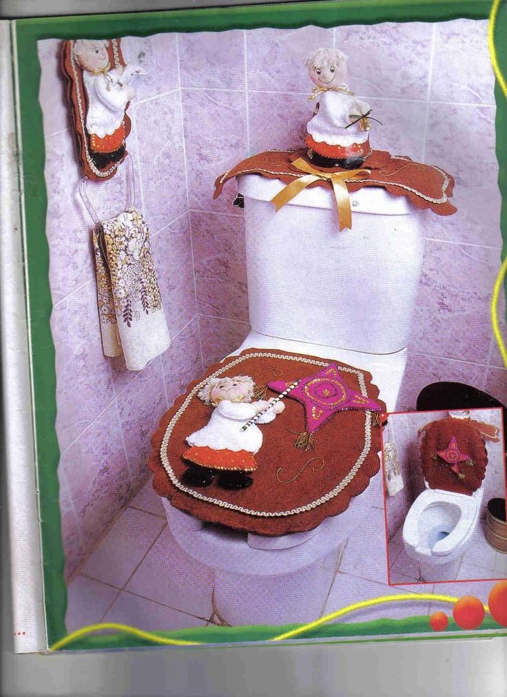 Juegos De Baño Navidenos En Fieltro: JUEGOS DE BAÑO NAVIDEÑOS, creaciones con moldes,