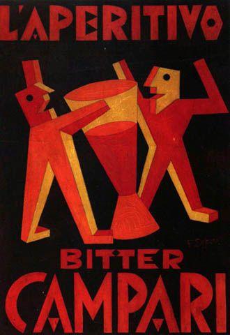 Campari (Depero) - Made into a digital font by Alan Kegler as P22 Il Futurismo
