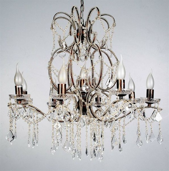 Venice 9 Light Crystal Pendant (5046-Italux) V & M Imports – Bright Lighting