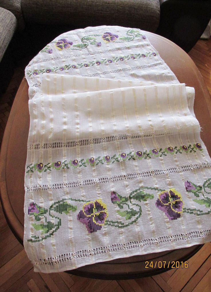Antique hand woven raw silk Romanian costumes scarf, homespun raw silk textile . At www.greatblouses.com