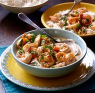Shrimp in Spicy Thai Coconut Sauce