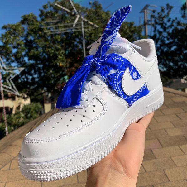 air force 1 bandana blu