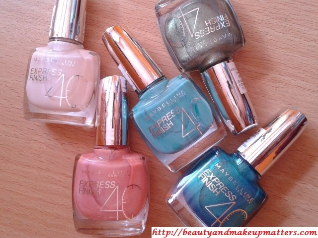 Swatch Fest – 5 Maybelline Express Finish Nail Paints