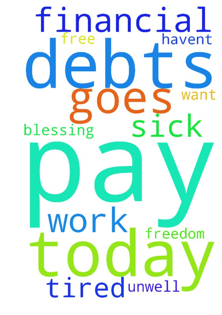 Please pray my pay goes through today haven't been - Please pray my pay goes through today havent been to work been unwell, also please pray for financial blessing am sick and tired of these debts I have, just want to be free from them please pray for freedom from debts Posted at: https://prayerrequest.com/t/Nv4 #pray #prayer #request #prayerrequest