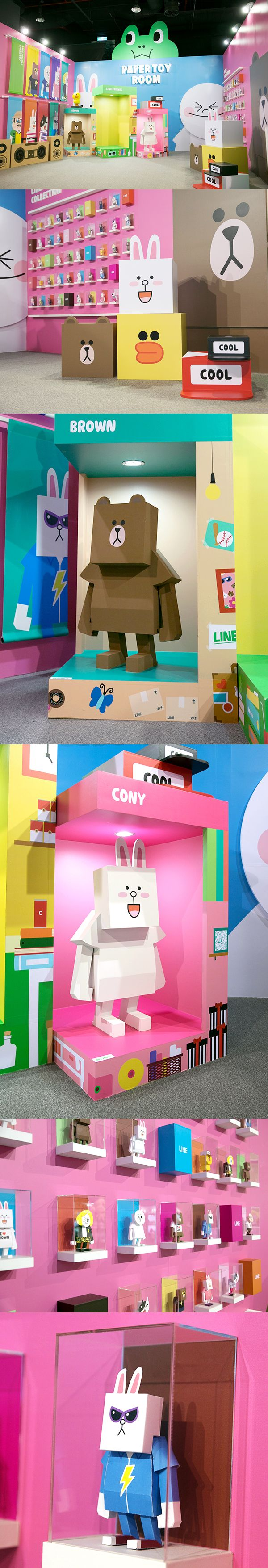 LINE FRIENDS PAPER TOY on Toy Design Served