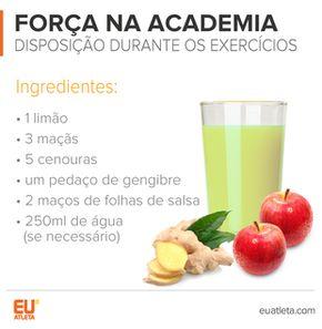 EuAtleta INFO 5+ Sucos Força na Academia (Foto: Eu Atleta)