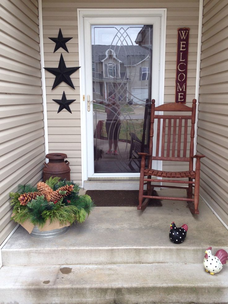 My Primitive Porch Barn Stars A Nice Big Quot Welcome Quot Sign