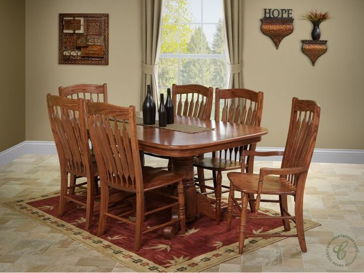 Amish Handcrafted Of Select American Hardwood The Heywood Dining Set Is Built Using Durable