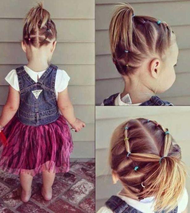 ¡Checa estos hermosos y rápidos peinados para niñas! #HairStyle