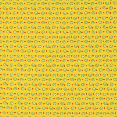 Cotone pois spiraliformi 4 - Cotone - giallo
