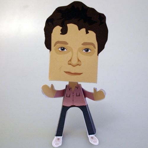 Chris Addison Paper People Free Paper Toy Download - http://www.papercraftsquare.com/chris-addison-paper-people-free-paper-toy-download.html#ChrisAddison, #PaperPeople