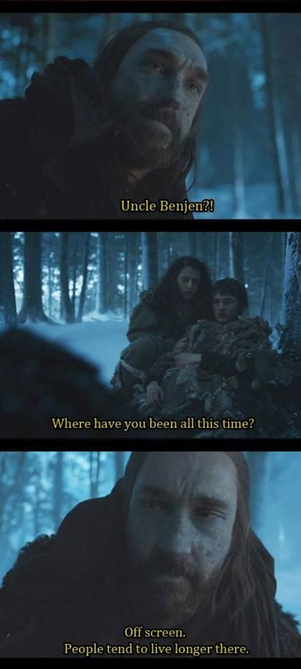 XD I just watched this episode last night, I remember in the first season he disappeared beyond the wall