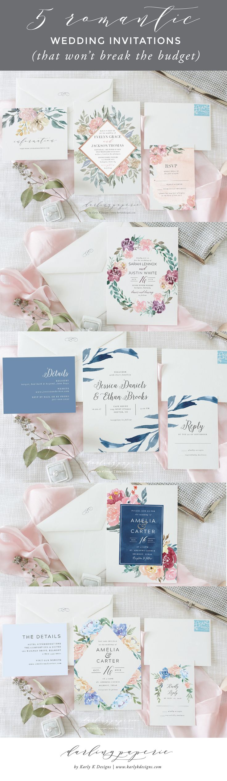 52 best Wedding Invitations images on Pinterest | Free printable ...