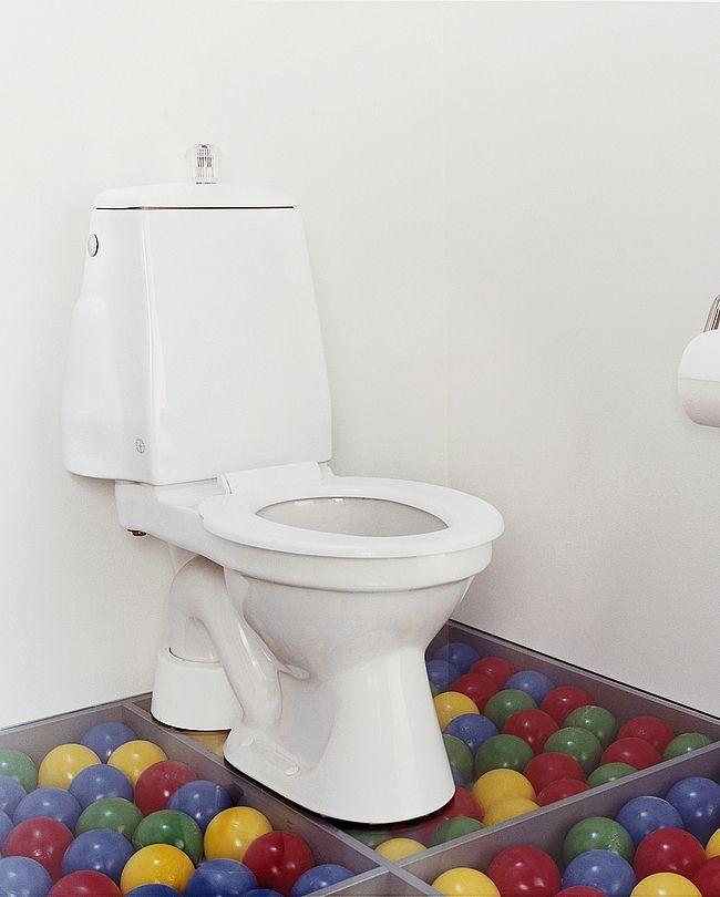 6022911 Gustavsberg GB1030510152 Gustavsberg Logic 305 Gulvst. toalett Barnemodell, Med sete og lokk, s-lås