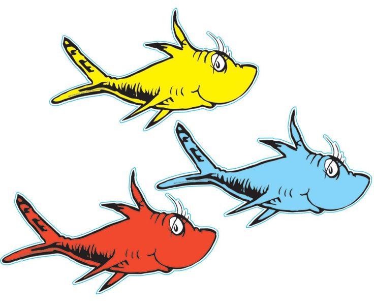 Dr. Seuss 1 Fish 2 Fish Cutouts from BirthdayExpress.com