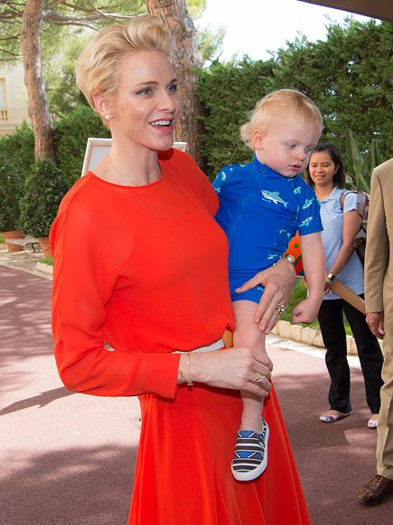 Prince Jacques and Princess Gabriella, 19 months, attended a garden party on July 22 in advance of Saturday's glamorous Red Cross Gala.