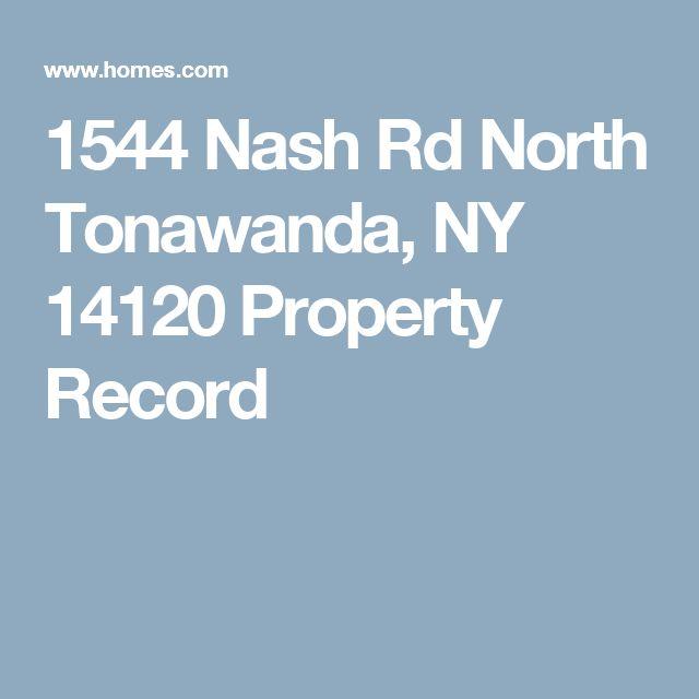 1544 Nash Rd North Tonawanda, NY 14120 Property Record