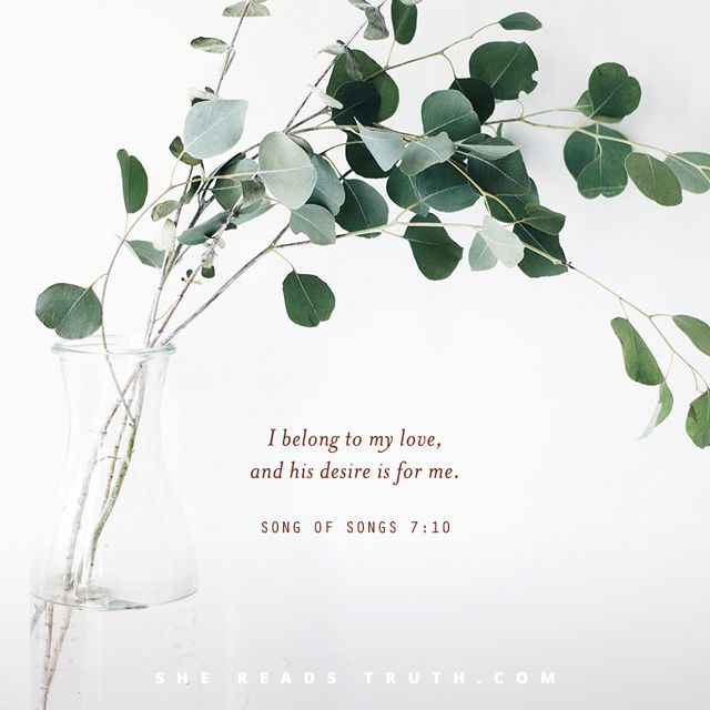 Song of Songs: Day 11 Invitation to Enjoy a New Spring Day by Kaitlin Wernet Today's Text: Song of Songs 7:10-8:4, Genesis 3:14-19, Psalm 85:10