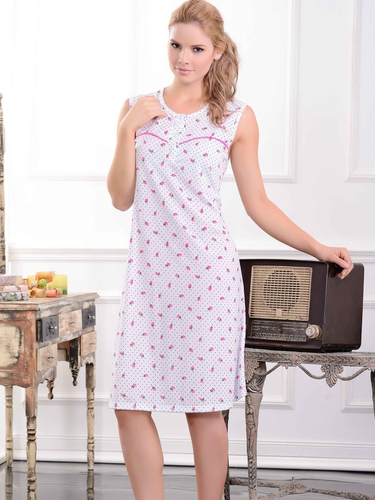 Batola / Sleepdress / 32951 / Femenina batola estampada, con delicados detalles Tallas / Sizes /  S - M - L - XL - XXL