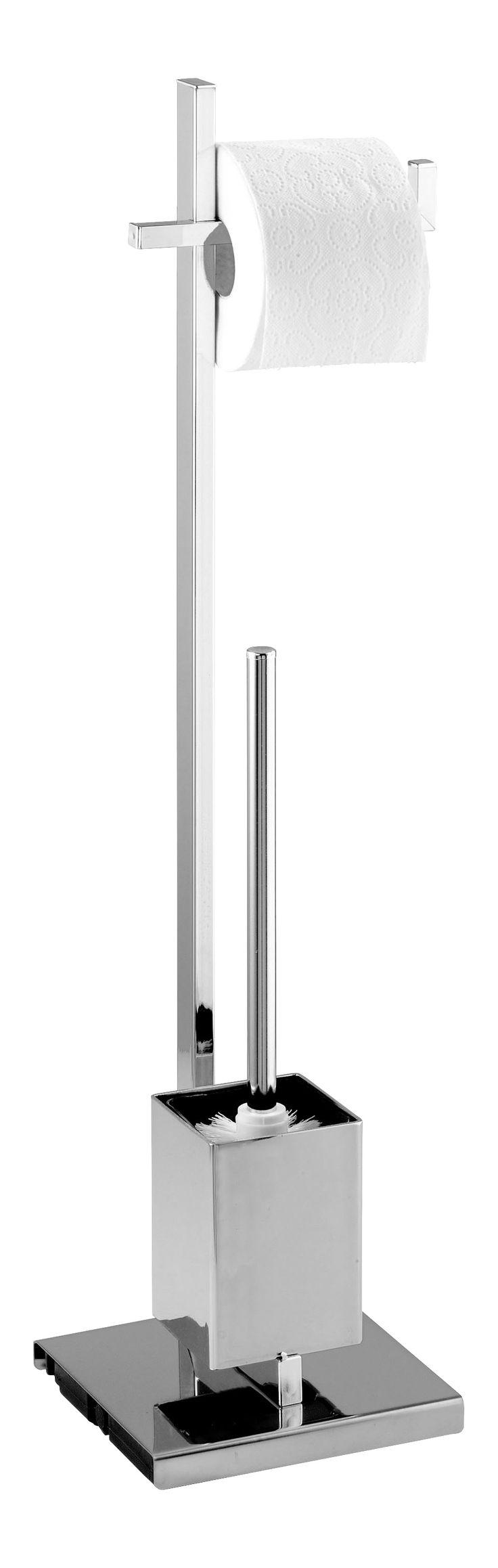 WENKO Stand WC Garnitur Quadro Description: Die Design Serie Quadro  Verleiht Dem Badezimmer