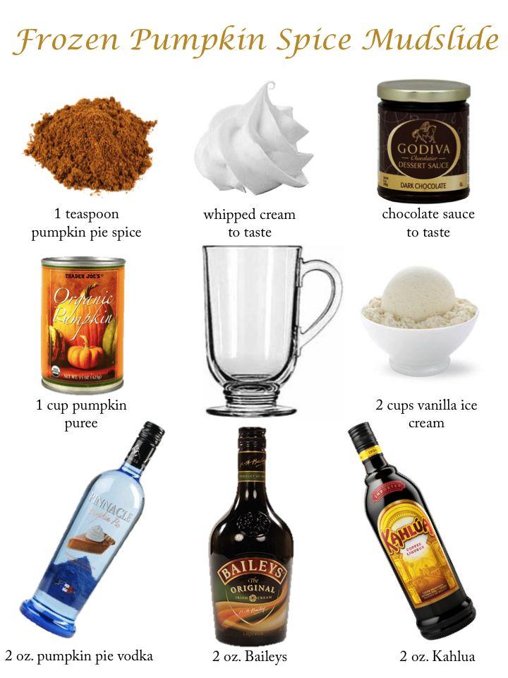 mid week cocktails: frozen pumpkin spice mudslide, halloween, thanksgiving, fall cocktails