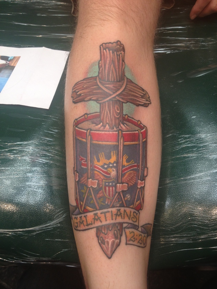 Drum tattoo, Just finished! 3 hour session for the color.