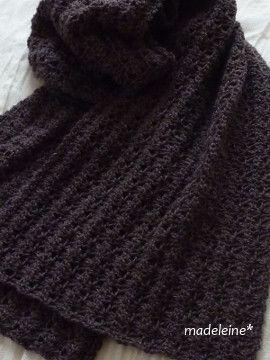 かぎ針編みのストール・編み図|madeleine's blog