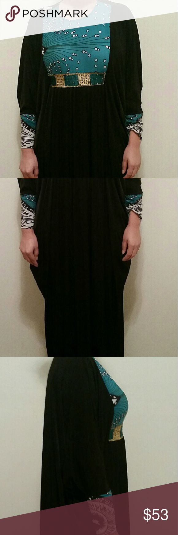 Abaya One size fits all. Bought in UAE, used 1 time for prayer at mosque, very clean looks like its never been used. Has the option to adjust waist, if you want more of a fitting look. Very beatiful! Dresses Maxi