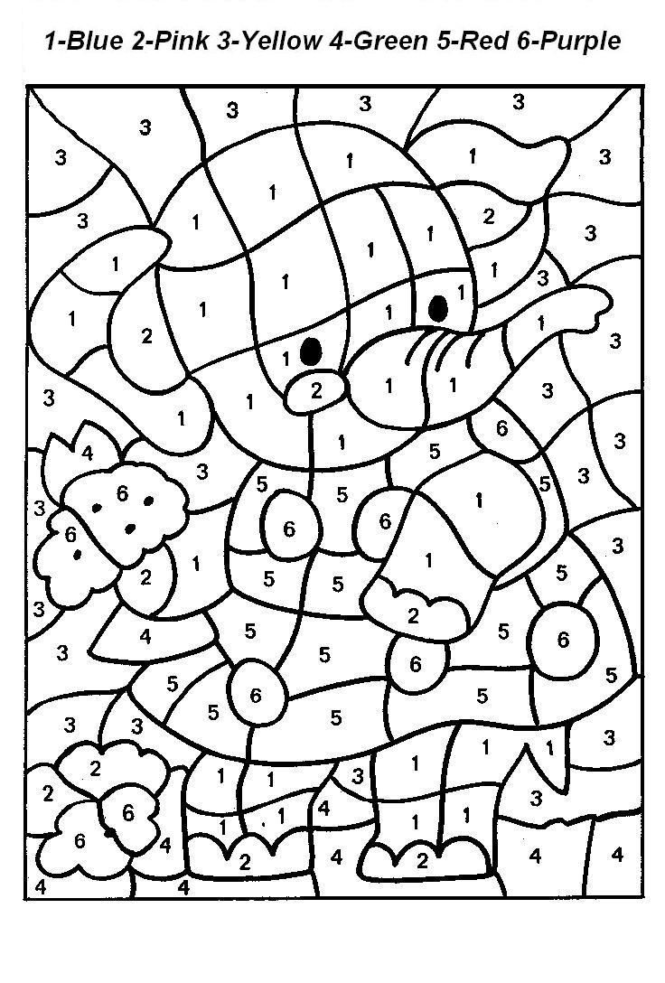 Coloring pages numbers 1-20