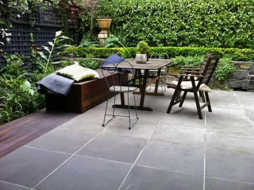 Nice, Simple Slate Pavers Traditional Patio By Froglet Moss